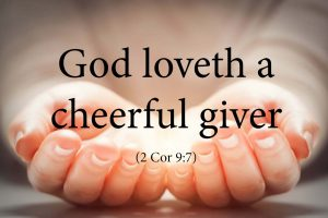 God Loveth a Cheerful Giver